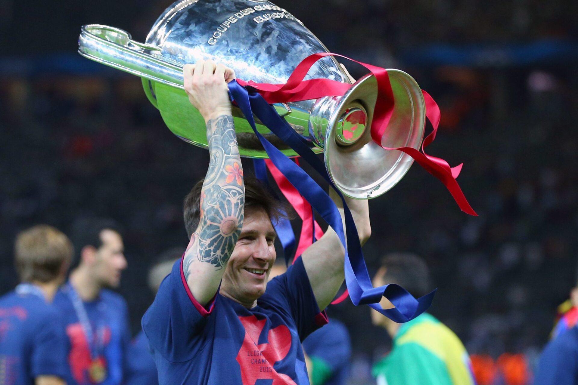 Lionel Messi a remporté la Ligue des champions à quatre reprises, dont la dernière en 2015 avec le Barça. Icon Sport