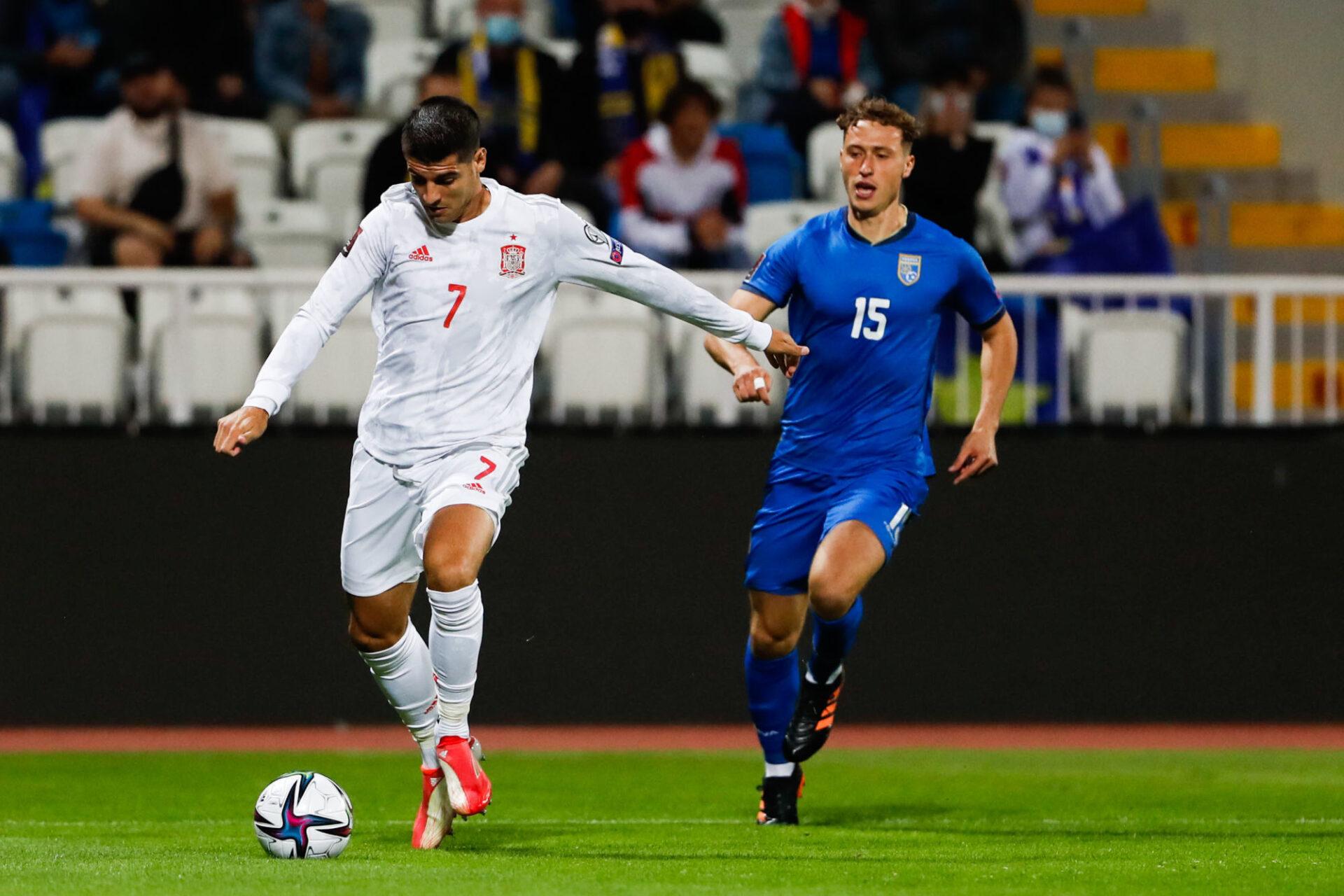 L'Espagne d'Alvaro Morata a galéré pour venir à bout du Kosovo lors de son dernier match (2-0). Icon Sport