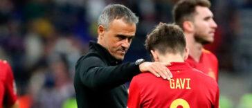 Luis Enrique s'est montré fier de ses joueurs après la défaite de l'Espagne en finale de la Ligue des nations contre la France (1-2). Icon Sport