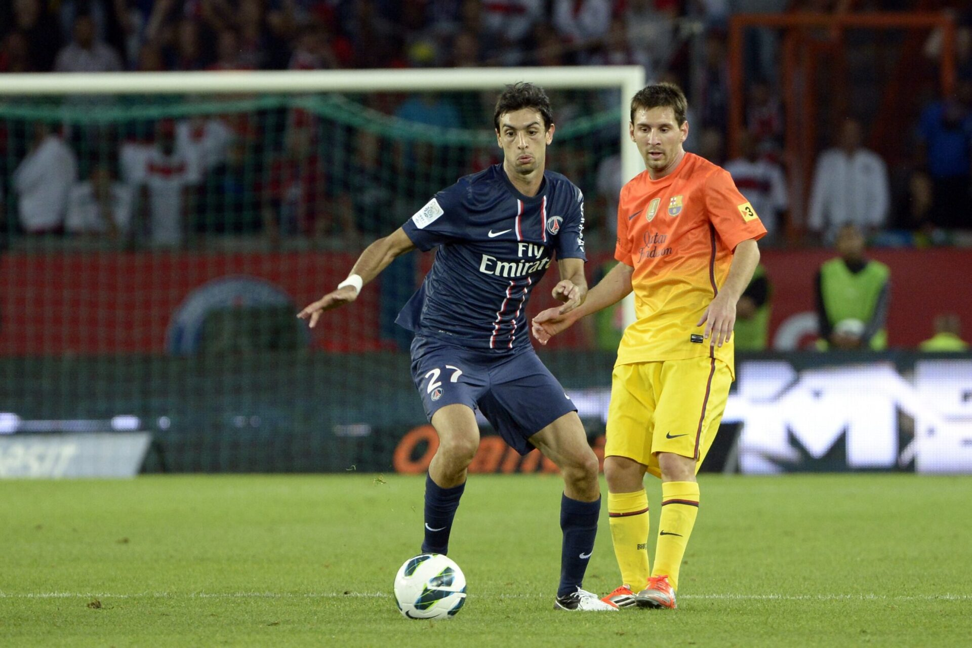 Pastore affrontait Lionel Messi avec le PSG (iconsport)