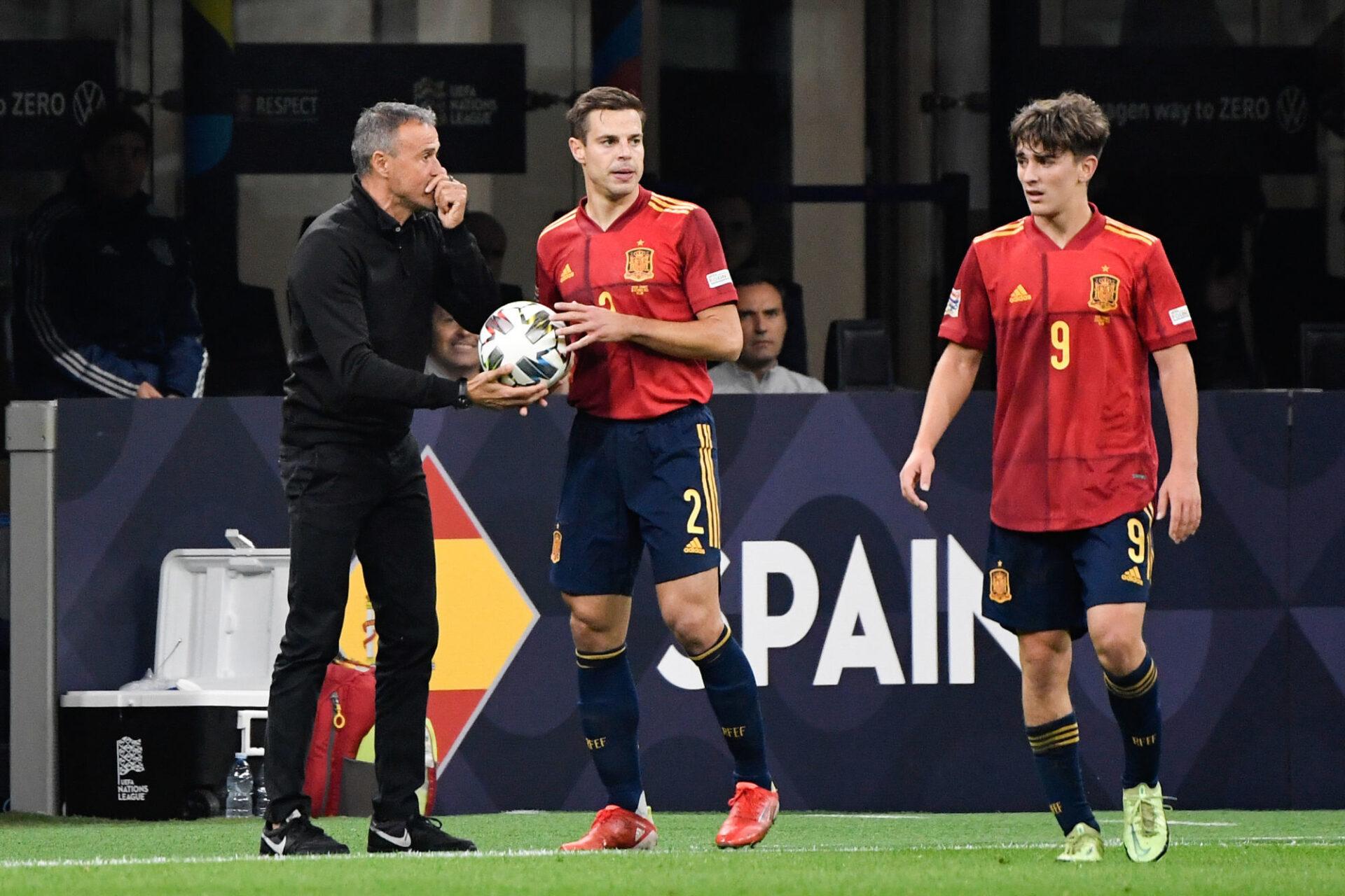 """Luis Enrique était """"fier"""" de ses joueurs après la défaite de l'Espagne. Icon Sport"""