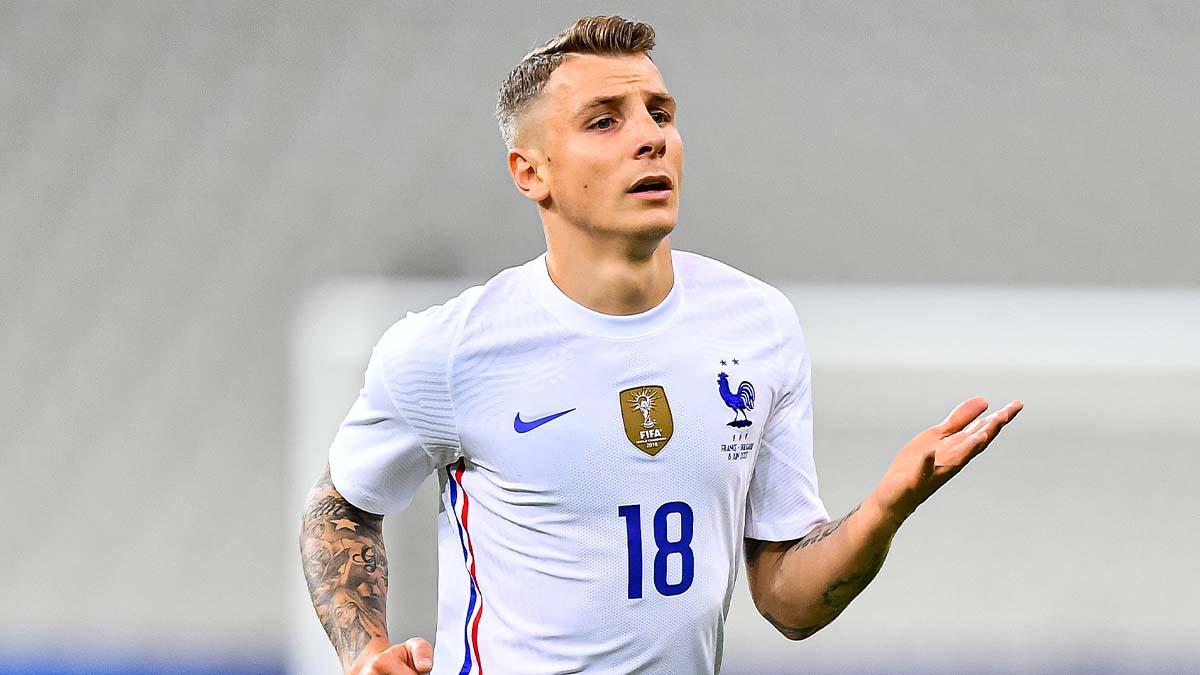 Touché, Lucas Digne quitte le rassemblement de l'équipe de France et ne participera pas à la finale de Ligue des nations contre l'Espagne (iconsport)