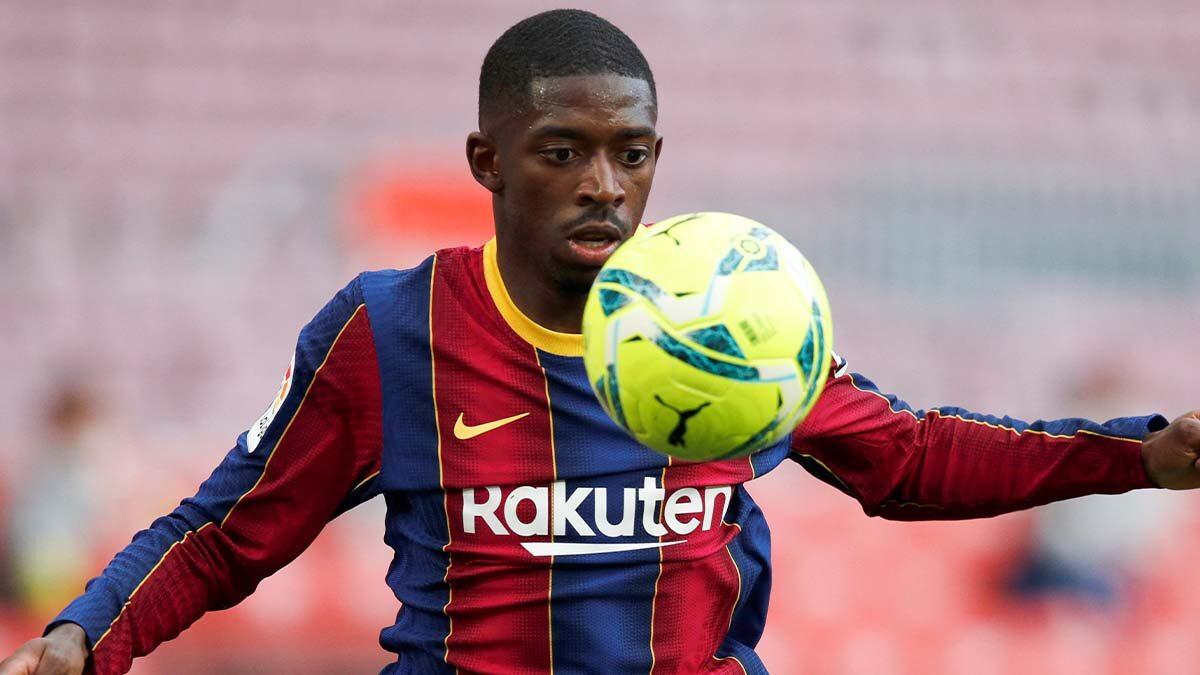 Arrivé à Barcelone en 2017, Ousmane Dembélé arrive en fin de contrat en juin 2022 et n'a pas encore d'accord pour prolonger (iconsport)