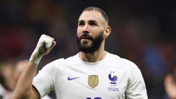 Brillant depuis son retour en Bleu, Karim Benzema fait partie des favoris naturels au Ballon d'Or (iconsport)