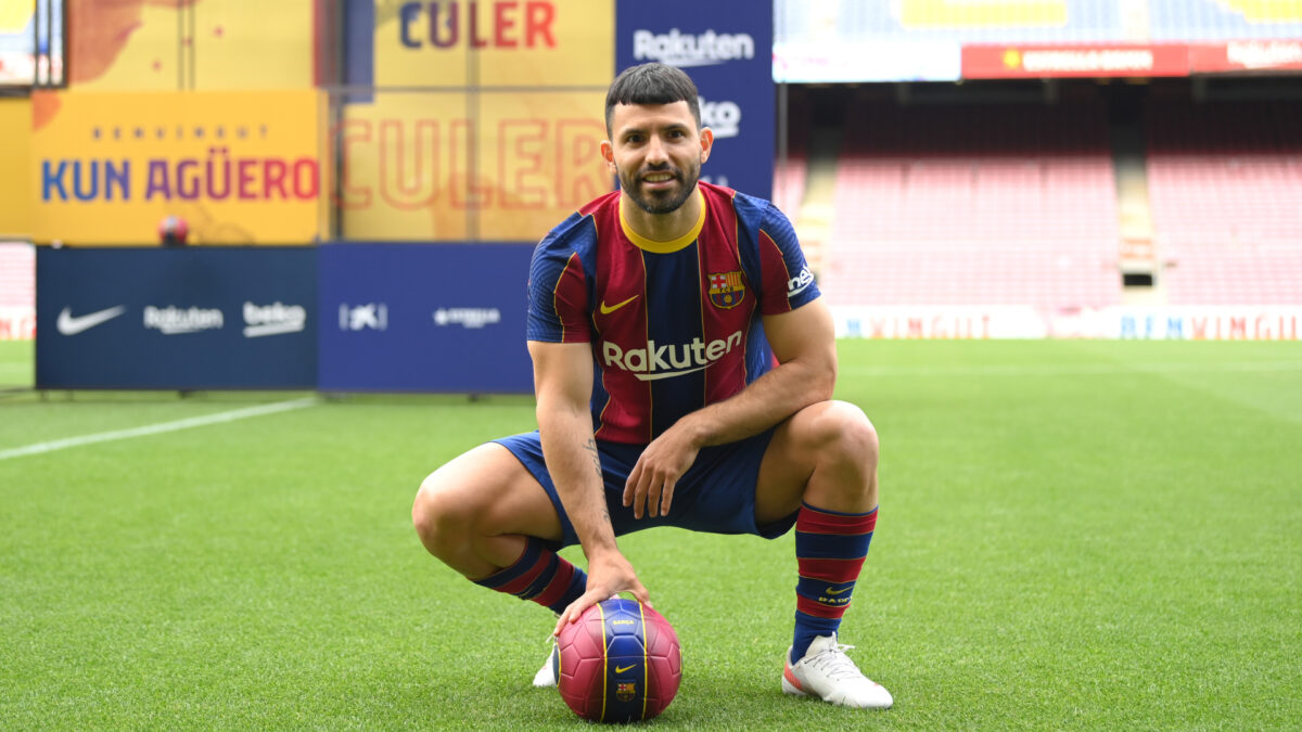 Même après le départ de Lionel Messi, Sergio Agüero voulait jouer pour le Barça (Getty Images)