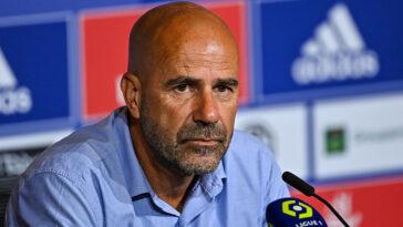 Peter Bosz était en conférence de presse ce jeudi 14 octobre à deux jours de Lyon - Monaco (iconsport)