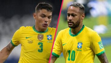 Alors que Neymar est visé par les critiques au Brésil, Thiago Silva l'a défendu en conférence de presse (iconsport)