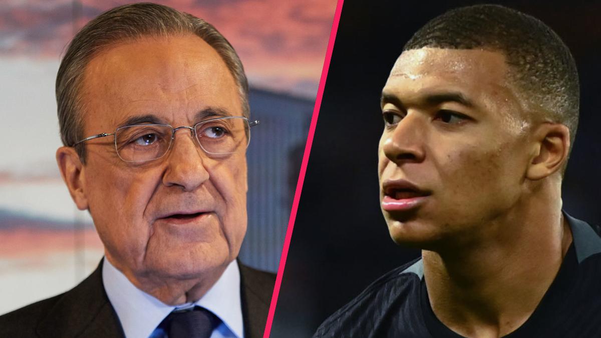 Florentino Pérez a nuancé ses propos concernant le transfert de Mbappé au Real Madrid. Icon Sport