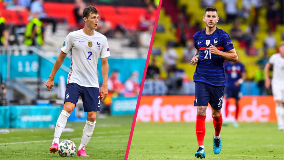 Pavard et Hernandez sont de retour avec l'équipe de France, et peuvent donc espérer débuter dans une éventuelle défense à trois (iconsport)