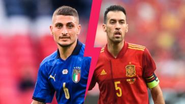 L'Italie de Marco Verratti et l'Espagne de Sergio Busquets se retrouvent ce mercredi 6 octobre en demi-finale de Ligue des nations, trois mois après leur affrontement en demi-finale de l'Euro 2020. Icon Sport