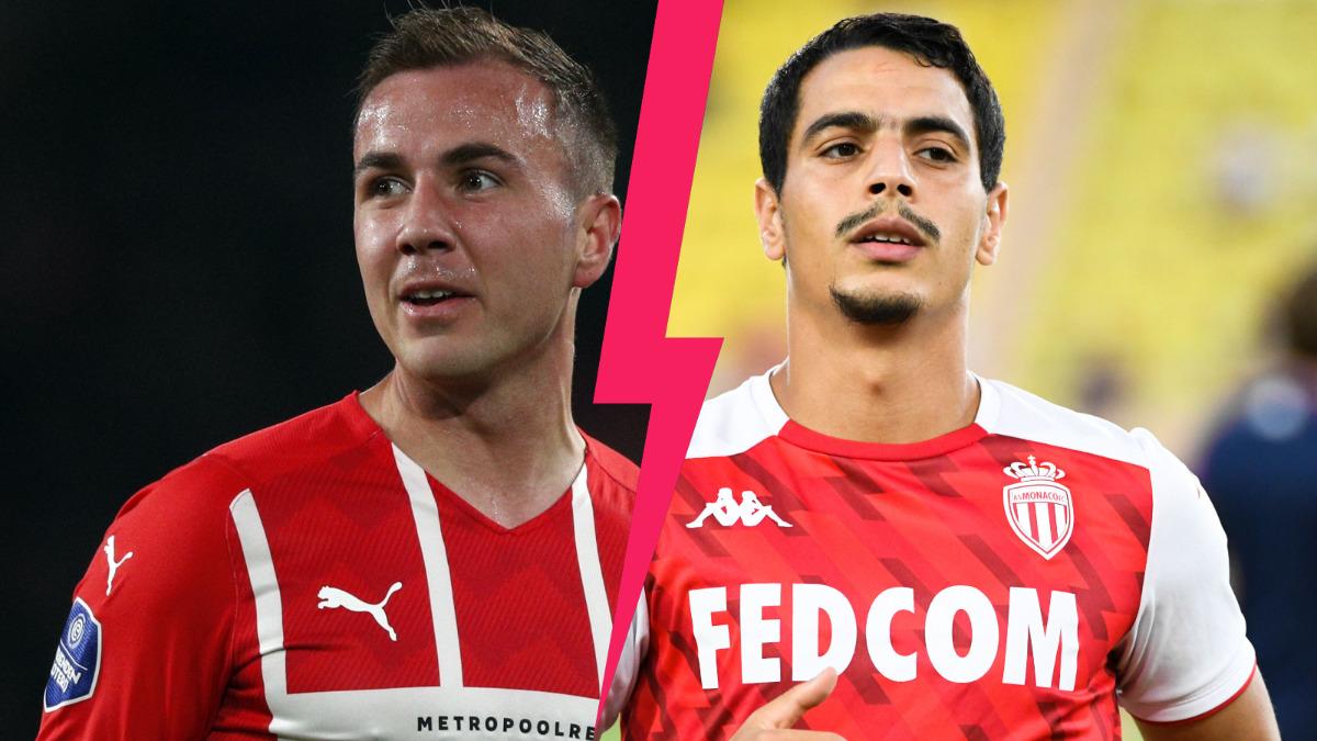 Mario Götze et Wissam Ben Yedder s'affronteront ce jeudi soir à l'occasion de PSV - Monaco (iconsport)