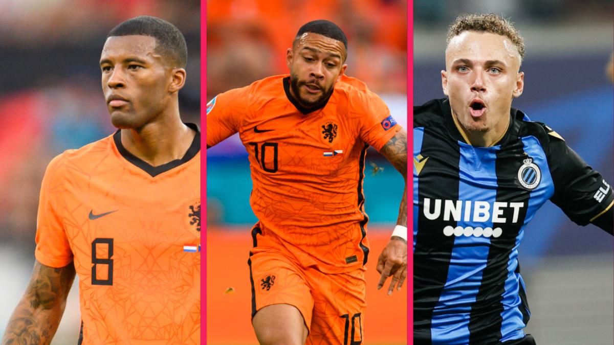 Georginio Wijnaldum et Memphis Depay font naturellement partie de la dernière liste de Louis van Gaal, tandis que Noa Lang, l'ailier de Bruges, a été appelé pour la première fois. Icon Sport
