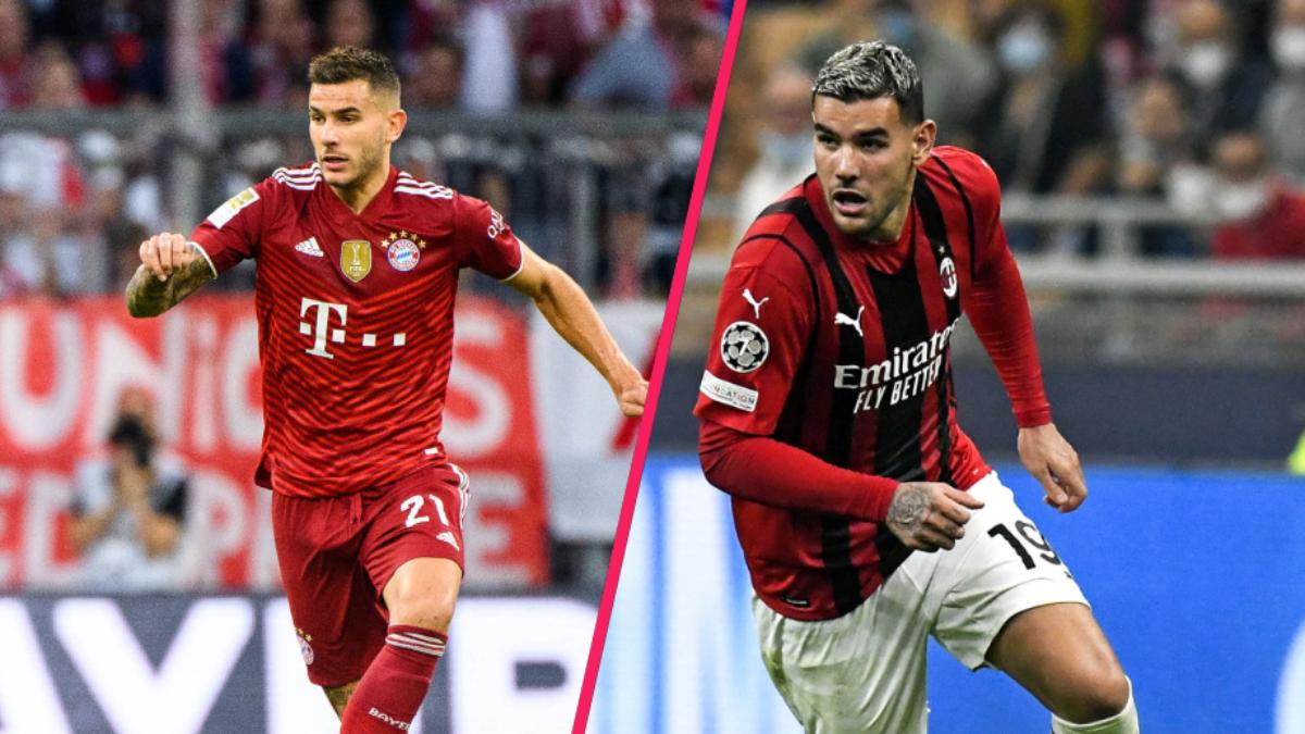 Lucas Hernández a disputé toutes ses rencontres au poste de défenseur central avec le Bayern cette saison. Théo Hernández, lui, est indéboulonnable comme latéral gauche de l'AC Milan. Icon Sport