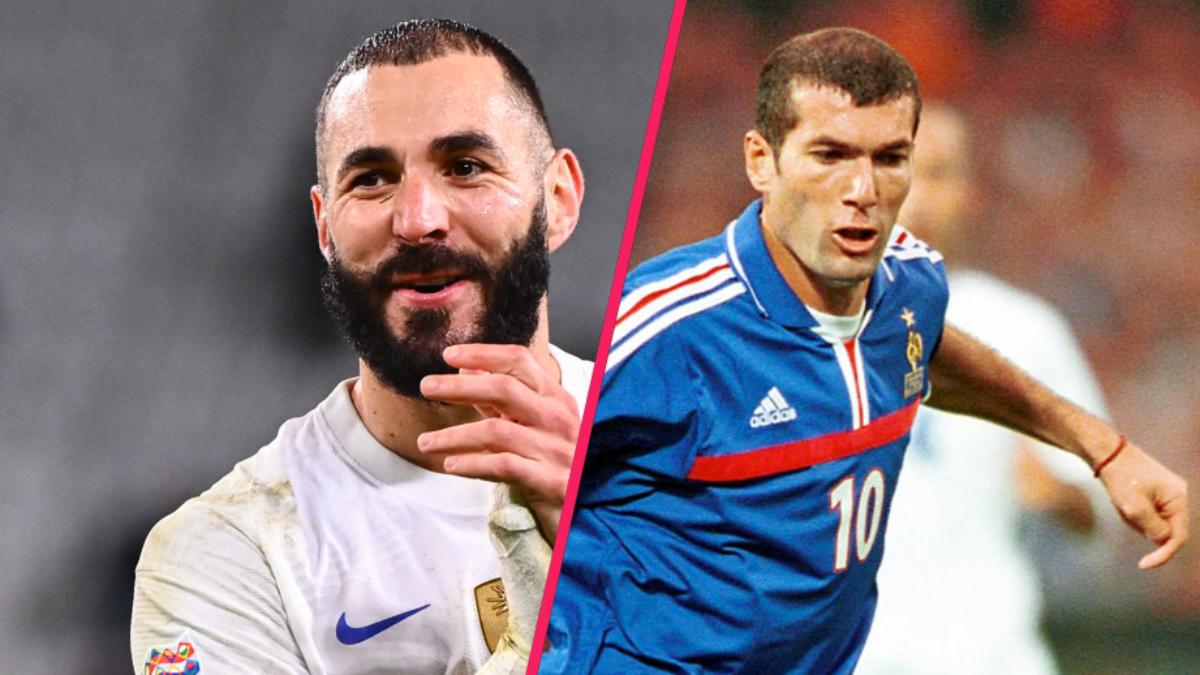 Karim Benzema dépasse Zinédine Zidane au classement des buteurs en équipe de France. Icon Sport