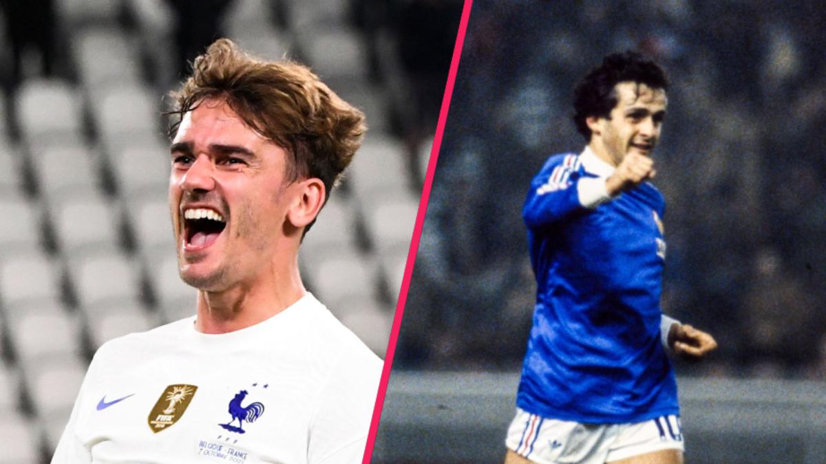 Antoine Griezmann et Michel Platini occupent actuellement la troisième place ex-aequo du classement, avec 41 buts. Icon SPort