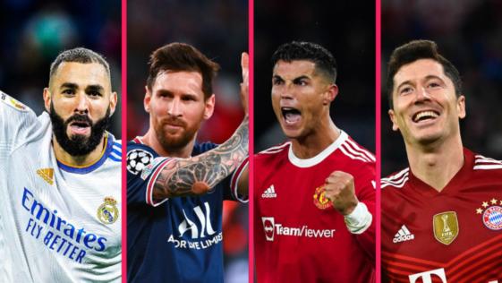 Karim Benzema, Lionel Messi, Cristiano Ronaldo et Robert Lewandowski font bien partie des 30 nommés pour le Balon d'Or. Icon Sport