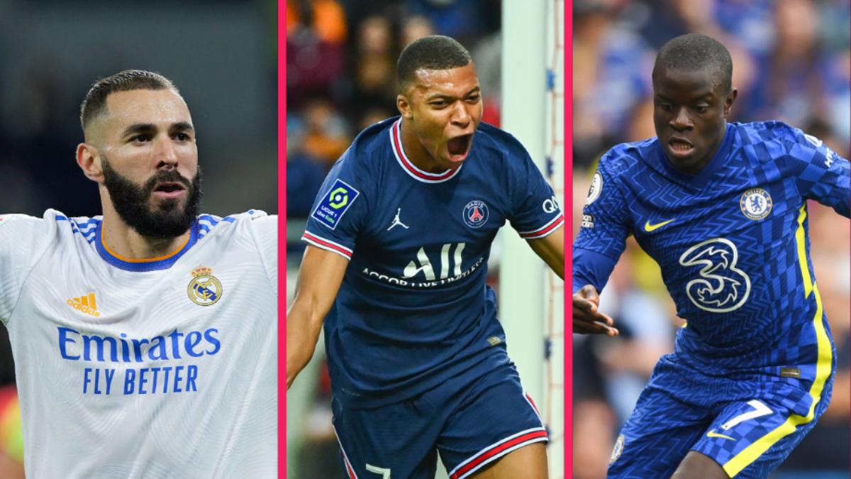 Karim Benzema, Kylian Mbappé et N'Golo Kanté sont les trois Français présents dans les 30 nommés pour le Ballon d'Or 2021. Icon SPort