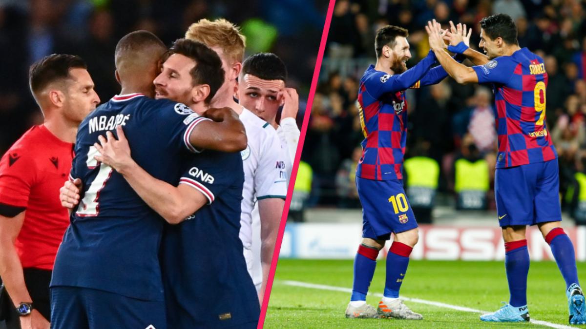 Lionel Messi et Kylian Mbappé au PSG, bientôt la même attente que celle qui régnait entre l'Argentin et Luis Suárez  au Barça ? Icon Sport