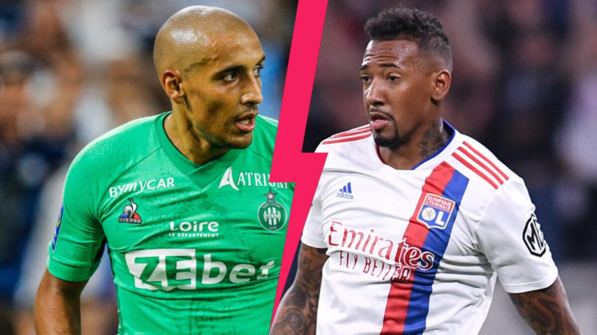 Khazri et Boateng se feront face ce dimanche soir alors que Saint-Étienne reçoit Lyon (iconsport)