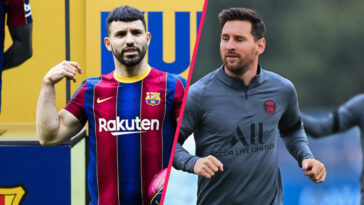 """Sergio Agüero a reconnu avoir signé au Barça avec """"l'espoir de jouer avec Messi"""" (iconsport)"""