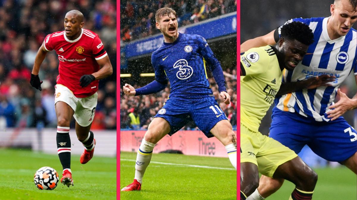 Manchester United a été accroché malgré un but d'Anthony Martial, Chelsea a forcé la décision grâce à Werner contre Southampton et Arsenal est revenu de Brighton avec un match nul heureux. Icon Sport